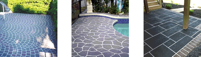 Decorative resurfacing projects can turn any concrete slab into a feature