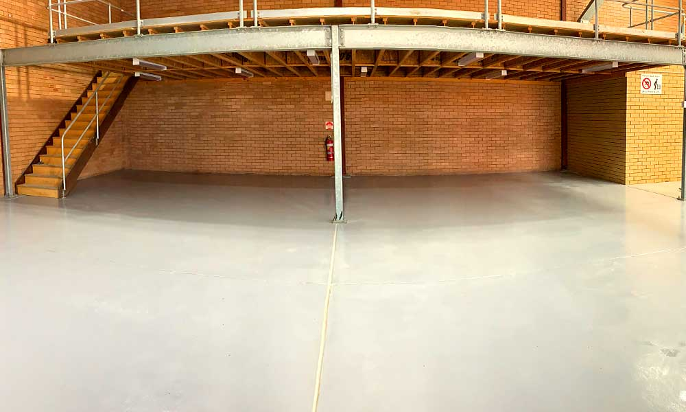 Epoxy flooring and repainting an entire warehouse in Adamstown